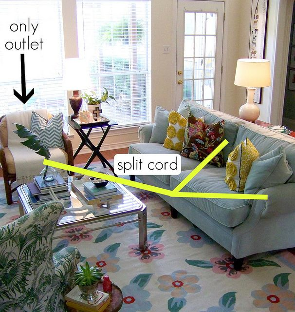 How to hide power cables in the living   room (quick tips)