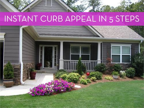 5 Easy Ways To Improve Your Home's Curb Appeal | Front yard .
