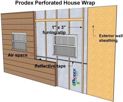 How to install house wrap : Installing House wrap : How to install .