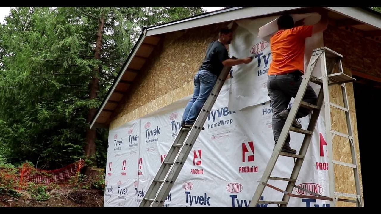 How to install house wrap properly and   don't mess it up