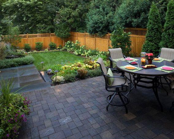 Patio Pavers Design | Large backyard landscaping, Small backyard .