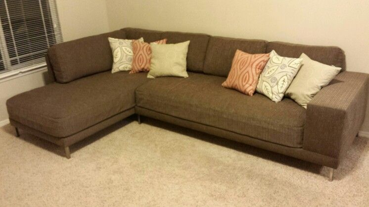 My couch, made from two twin mattresses. DIY sofa / DIY couch .