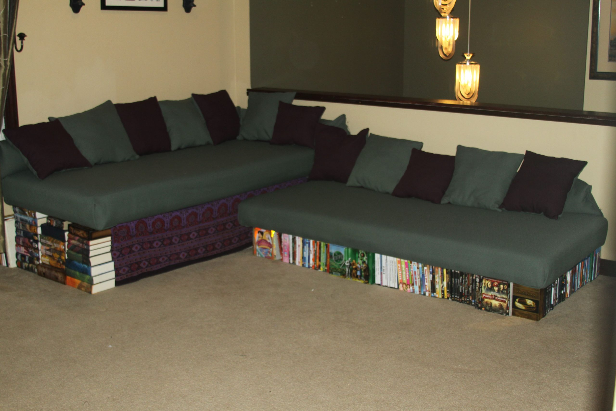 How to make a couch from a double   mattress