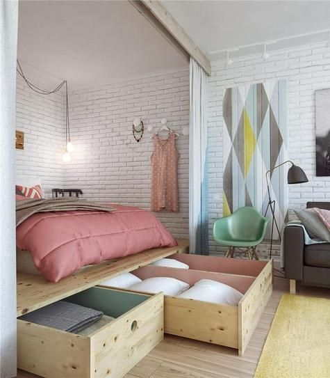 20 Clever Ways to Make Your Studio Apartment Feel and Look Bigger .