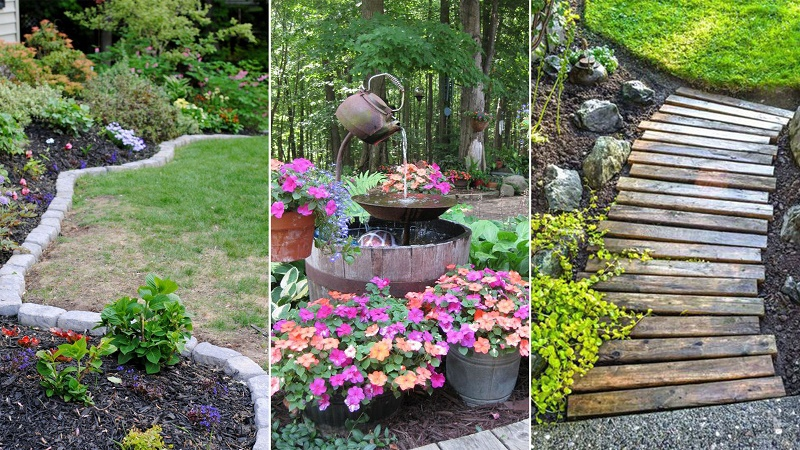 How to make your garden look nice with no money (Amazing ideas .