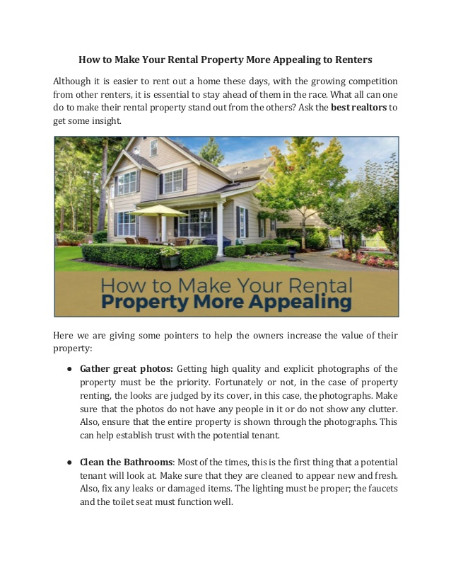 This is how you make your property   attractive to tenants