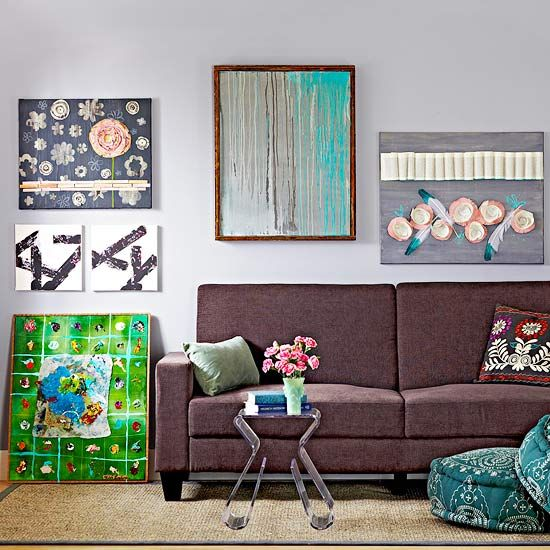 14 Canvas Wall Art Projects to Deck Out Your Space | Diy artwork .