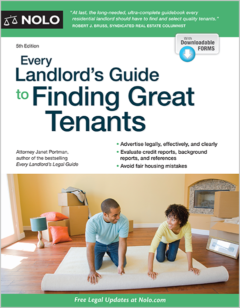 Every Landlord's Guide to Finding Great Tenants - Legal Book - No