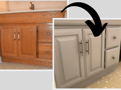 How To Paint A Bathroom Vanity - Love Remodel