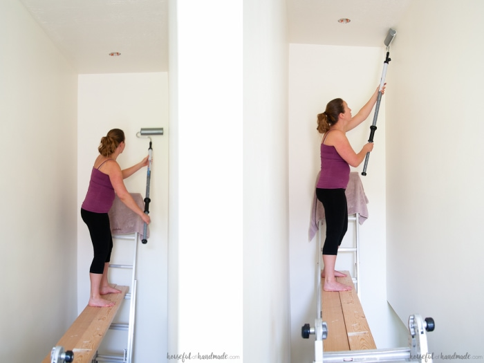 How to Paint Tall Walls - Houseful of Handma