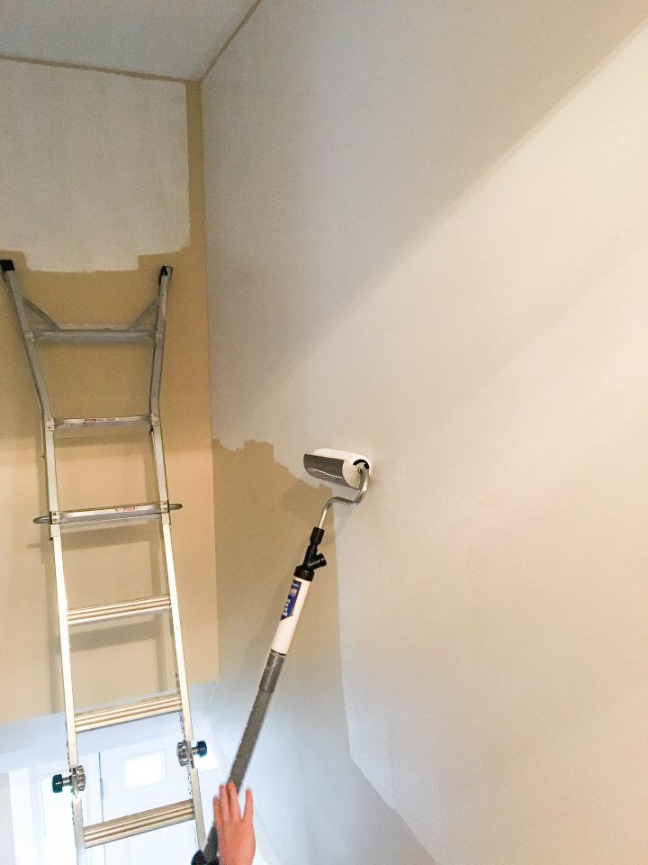 How to paint high walls and do a great   job