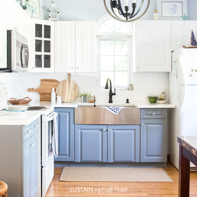 How to Paint Kitchen Cabinets without Sanding – Sustain My Craft Hab