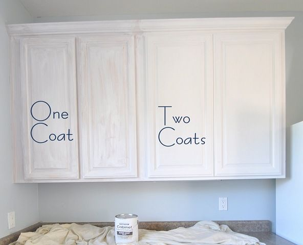 How to paint kitchen cabinets without sanding them. Interesting .
