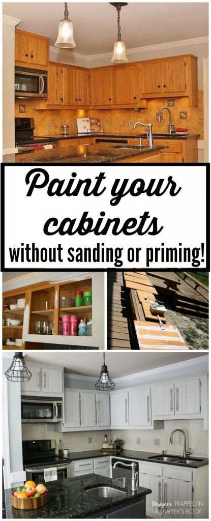 THIS IS AWESOME! Learn to paint your kitchen cabinets without .