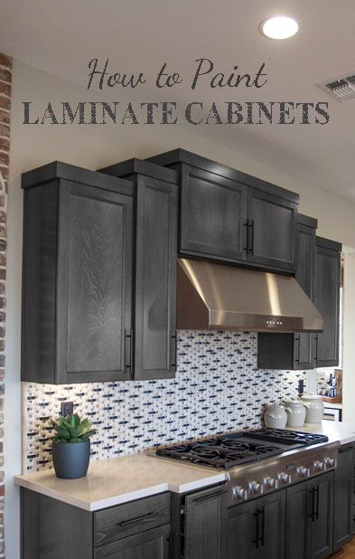 How to Paint Laminate Cabinets   Laminate cabinets, Painting .