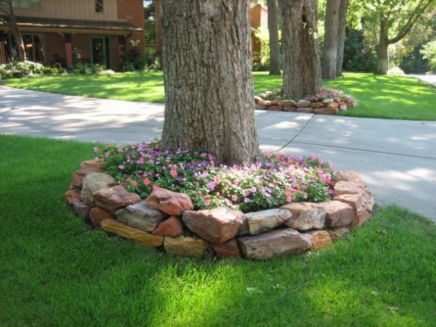 How to plan a beautiful garden around   existing trees