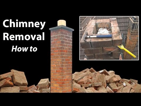Removing a Chimney Below Roof Level - How to - YouTu