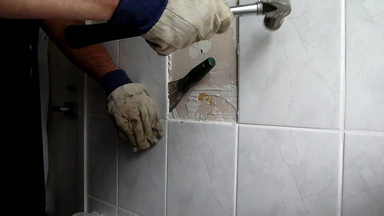 How to remove bathroom tiles and not make   a big mess