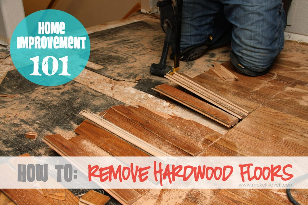 How to remove hardwood floors without   problems