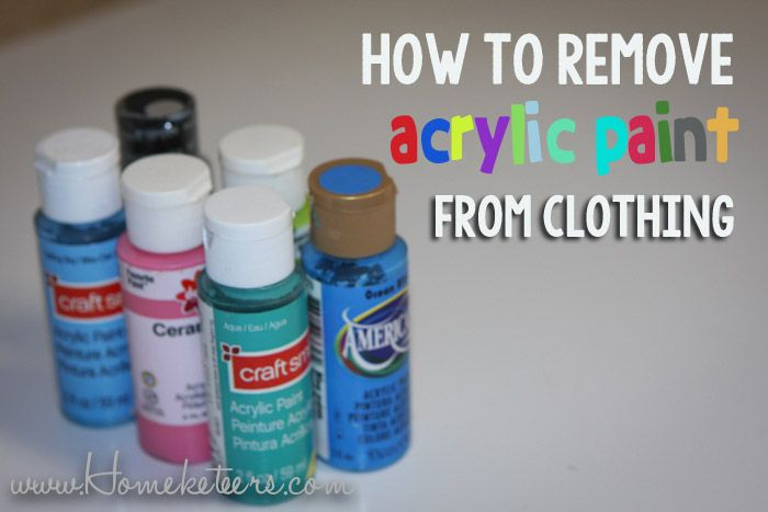 How to Remove Acrylic Paint from Clothing | Remove acrylic paint .