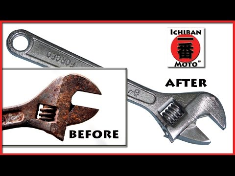 How to Remove Rust with from metal and tools DIY Electrolysis .