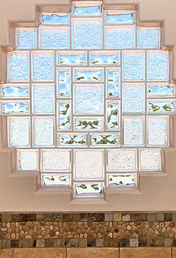 Enhance Your Glass Block Window By Mixing Different Sizes And .