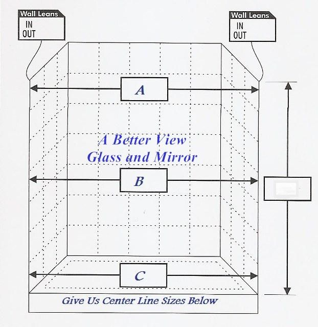Glass Shower Door Measure Sheet | Glass shower doors, Shower doors .