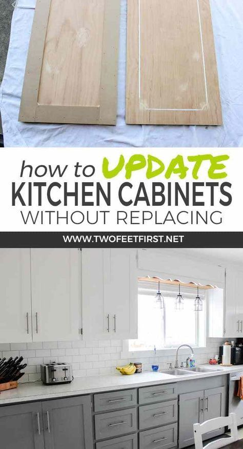 Update Kitchen Cabinets for Cheap | Shaker style cabinet doors .