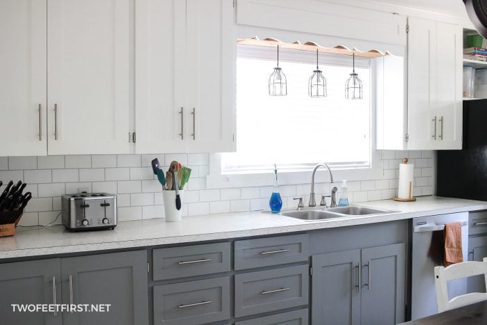 Update kitchen cabinets without replacing them by adding tr