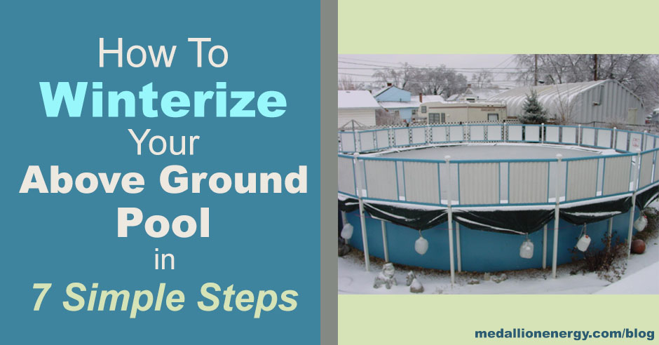 This is how you make your above-ground   pool winterproof