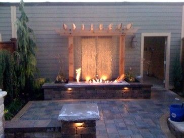 fire water feature | Unique Fire and water feature - contemporary .