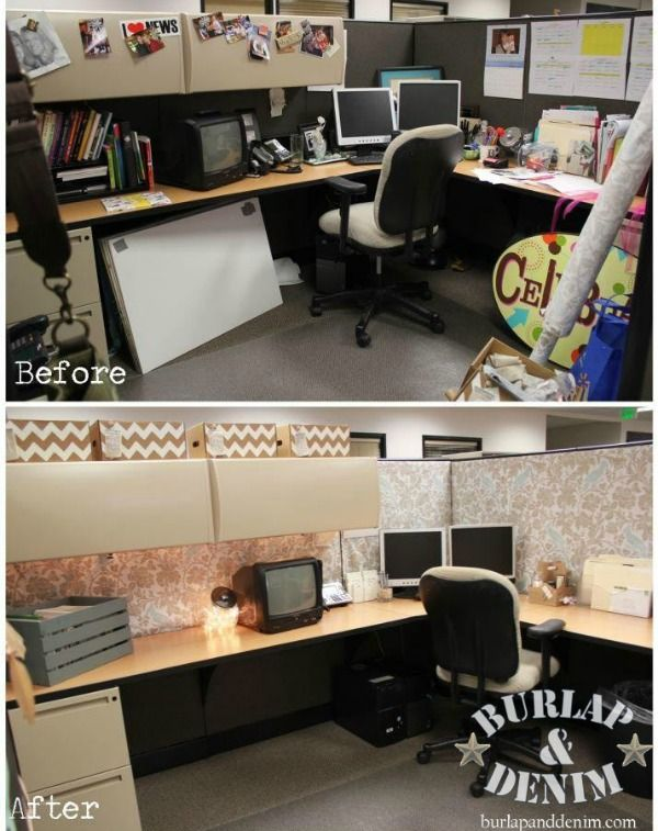 Glam Up Your Small Office Or Cubicle | Cubicle makeover, Work .