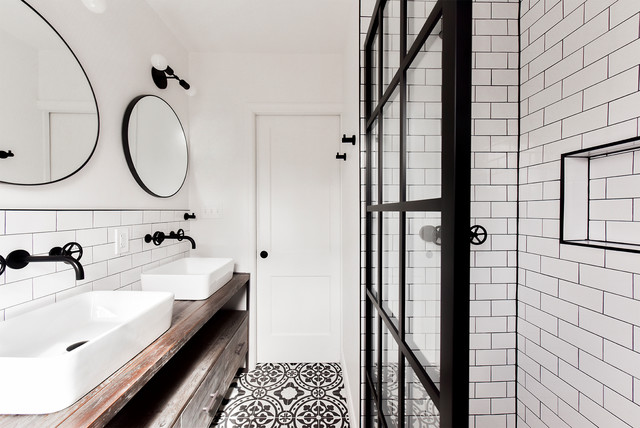 Eclectic Industrial Bathroom Remodel - Industrial - Bathroom - DC .