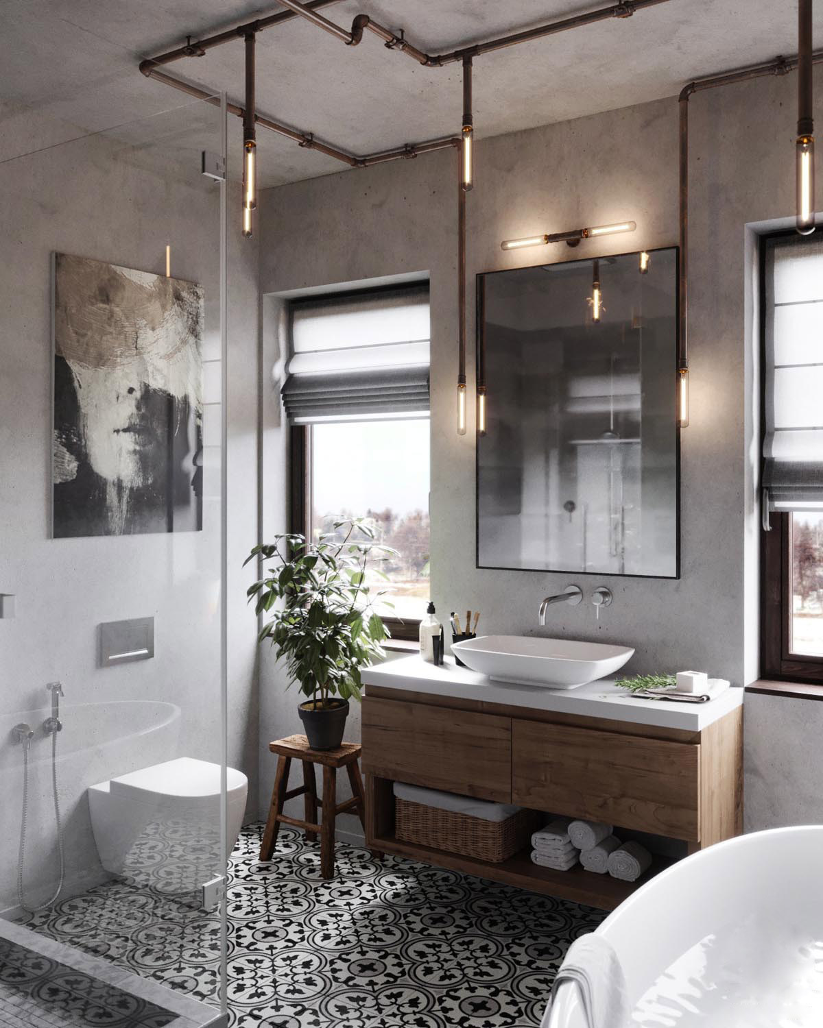 Industrial bathroom ideas that look   really modern and inspiring