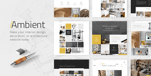 Ambient - Modern Interior Design and Decoration Theme by Elated-Them