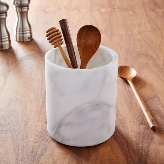 Marble Kitchen Utensil Holder, Kitchen Storage Solutio