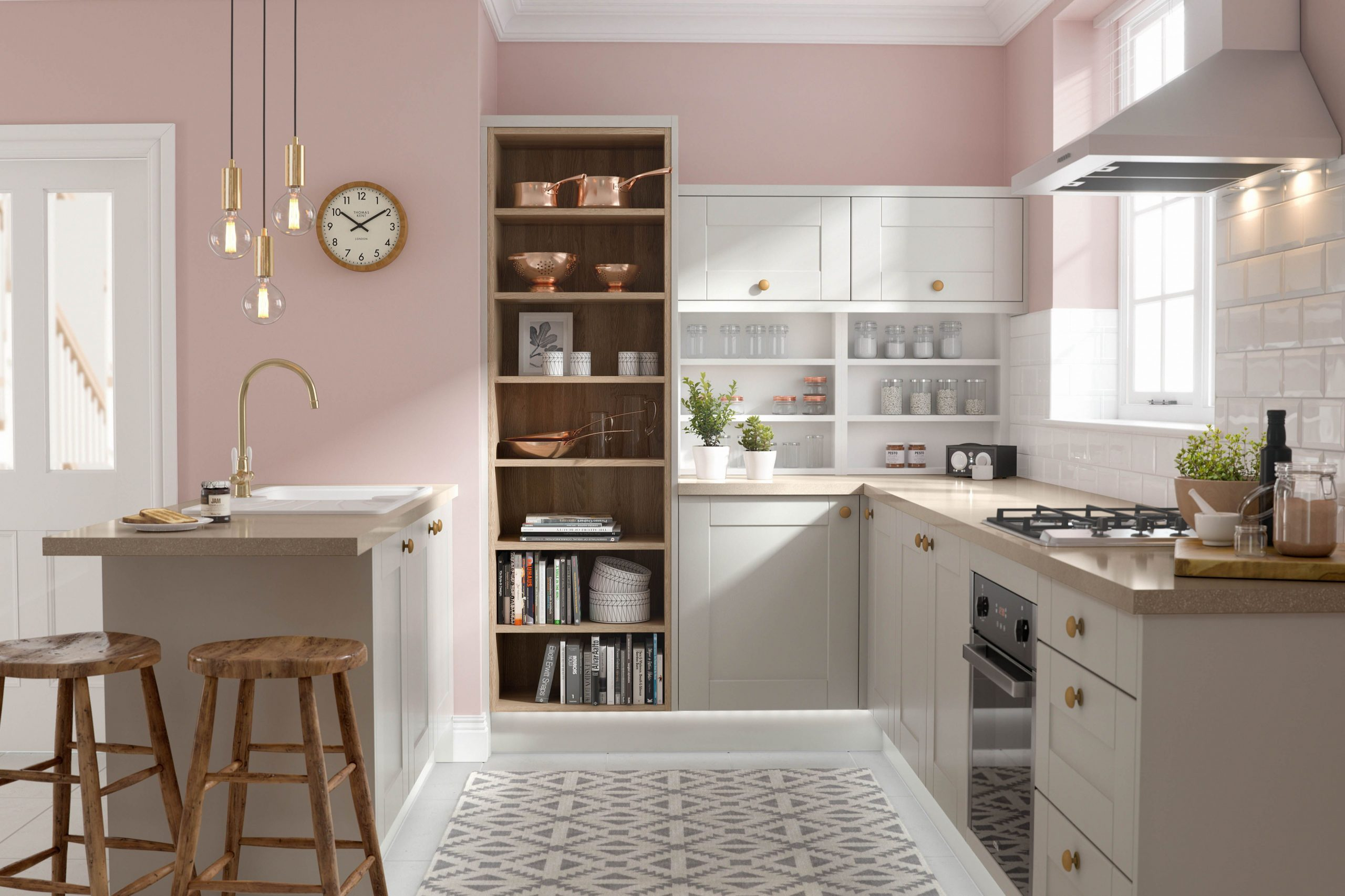 Decoration ideas for a kitchen with   breakfast bar