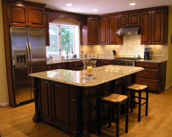 Shaped Island Design Ideas | L shaped kitchen designs, Kitchen .