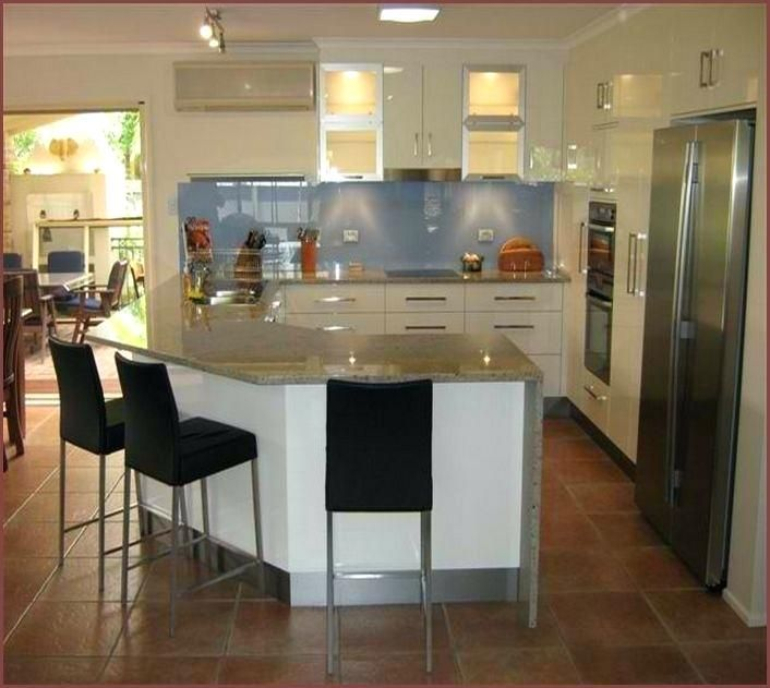 L Shaped Kitchen Island Designs With Seating | Kitchen island .
