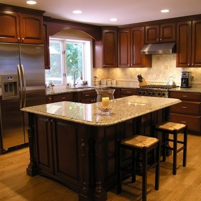 L-shape Island Design Ideas, Pictures, Remodel and Decor | L .