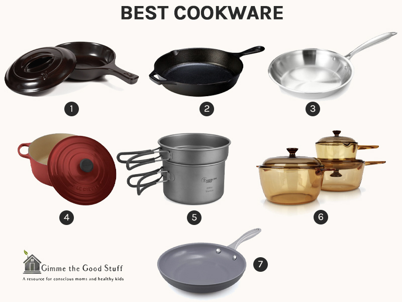 List of the best materials for pots and   pans