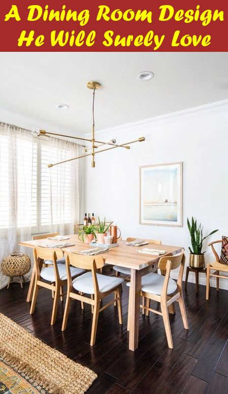 A Dining Room Design He Will Surely Love (With images) | Mid .