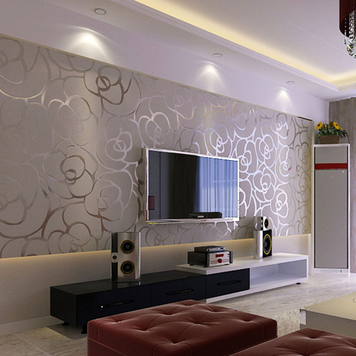 Tips and ideas for wallpaper in the   living room that you can use on your walls
