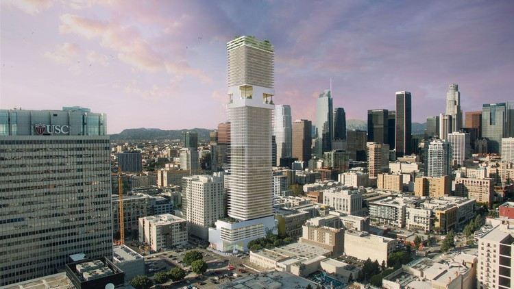 ODA Designs 70-Story Residential Skyscraper for Downtown Los .