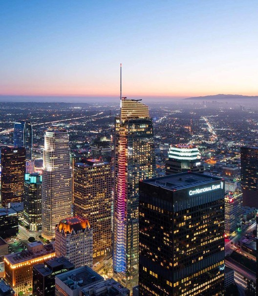 Los Angeles' New Tallest Skyscraper, the Wilshire Grand, Opens to .