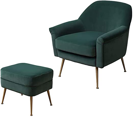 Amazon.com: Light Luxury Simple Fabric Single Sofa, Bedroom .