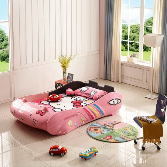 China Lovely Children Bed Creative Hello Kitty Design, Car Bed .
