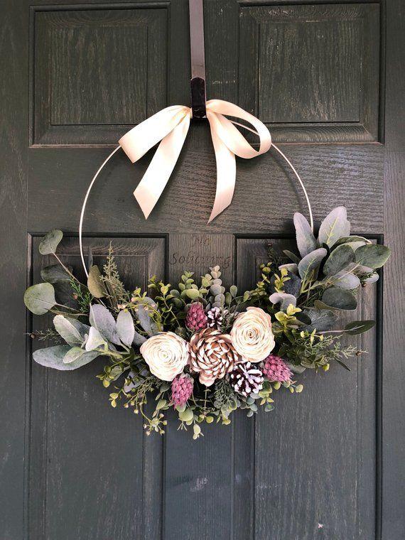 Spring wreath, Spring wreaths for front door, Summer wreath .