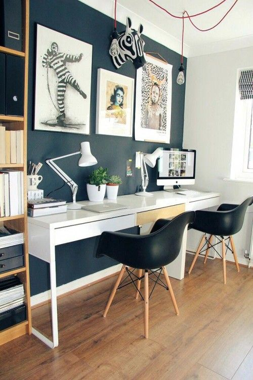 Mid Century Modern Home Office Ideas | Home trends, Home office .