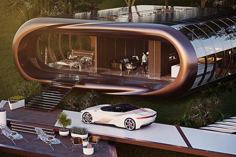 Near-Future Modular Homes : futuristic concept ho